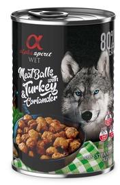 Влажный корм для собак Alpha Spirit MeatBalls With Turkey & Coriander, 0.4 кг