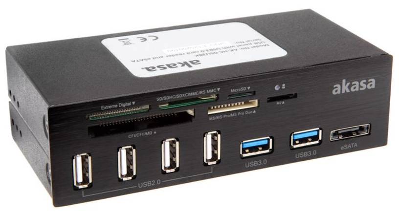 """Akasa 6-Port USB 3.0 Card Reader 5.25"""""""