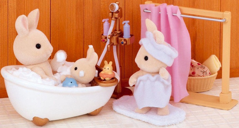 Žaislinė figūrėlė Epoch Sylvanian Families Bath & Shower Set 3562