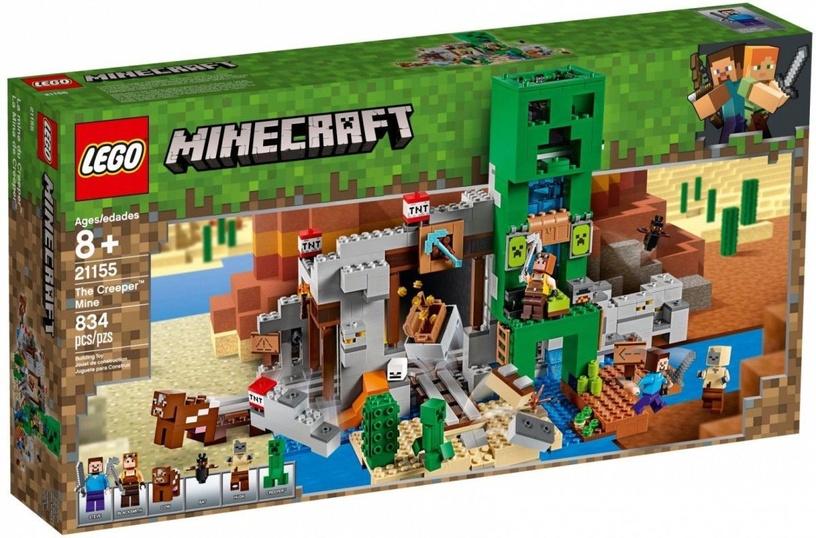 Konstruktorius LEGO Minecraft The Creeper Mine 21155