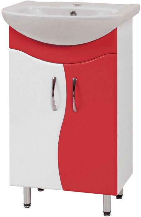 Шкаф для ванной Sanservis SL-56-ХВ Standart with Basin Solas-56 Red 56.5x85x44.5cm