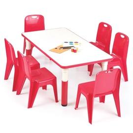 Vaikiškas staliukas Simba raudonas, 115 x 60 x 46 cm