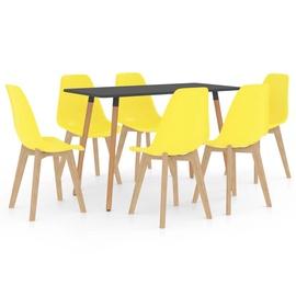 Обеденный комплект VLX, желтый/коричневый