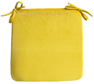 Home4you Velvet Chair Pad 39x39cm Yellow