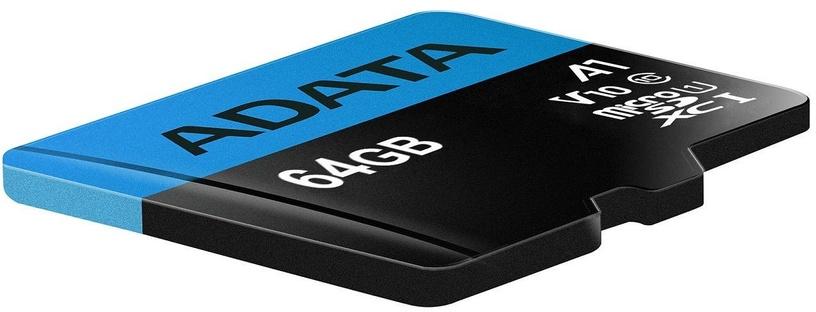 Atminties kortelė microSDHC 64GB C10 Premier ADATA