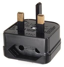 Maclean Adapter AC plug G / AC plug C Black