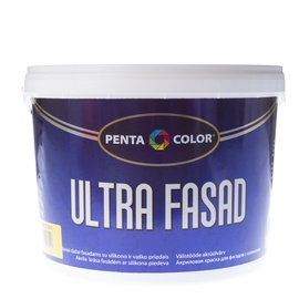 Krāsa dispersijas Pentacolor Ultra Fasad, 10 l