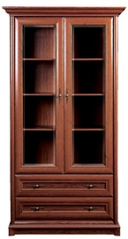 Black Red White Glass Door Cabinet Kent 110x204x43cm Chestnut