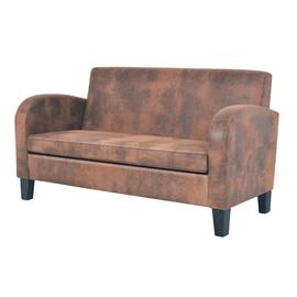 Диван VLX 2-Seated 245585, коричневый, 70 x 139 x 76 см