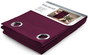 AmeliaHome Blackout Curtains Plum 140x270cm