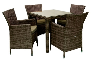 Home4you Wicker Garden Furniture Set 5pcs