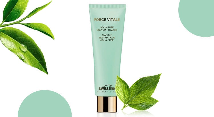 Veido kaukė Swiss Line Force Vitale Aqua Pure Enzymatic Mask, 75 ml