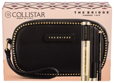 Collistar Mascara Volume Unico 13ml Intense Black + 0.8g Kajal Pencil Black + The Bridge Cosmetic Bag Black