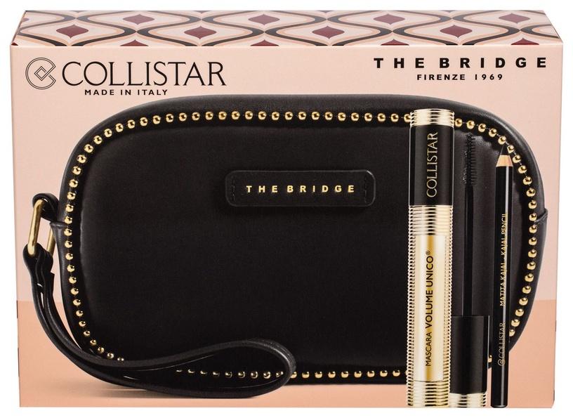 Collistar Mascara Volume Unico 13ml Intense Black + 0.8g Kajal Pencil Black + The Bridge Cosmetic Bag Black