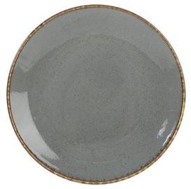 Porland Seasons Dinner Plate D24cm Dark Grey