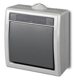 Mygtukas skambučiui Elektroplast Aquant 1205-10, pilkas