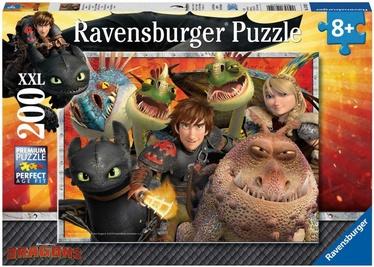 Dėlionė Ravensburger XXL Dreamworks Dragons 12812, 200 dalių
