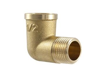 """Alkūnė TMD brass, 1/2"""", 90°, vidinis/išorinis sriegis"""