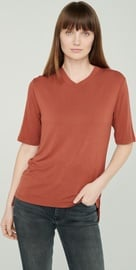 Audimas Lightweight Soft T-Shirt With Extended Back Red XL
