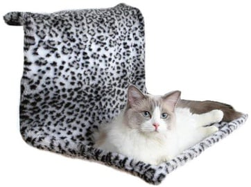 Trixie Plush Radiator Bed Snow Leopard