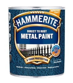 Metalo dažai Hammerite Hammered, juodi, 5 l