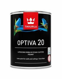 Vandeniniai akriliniai dažai Tikkurila Optiva 20 BA, balti, 0.9 l