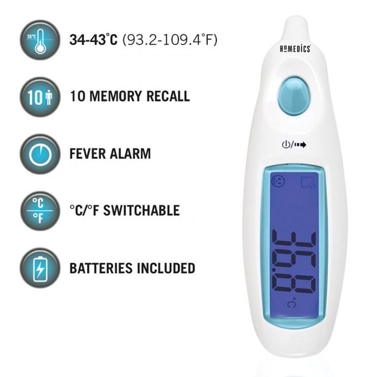 Homedics TE-101-EU Jumbo Display Ear Thermometer
