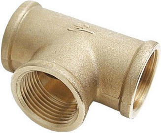 """Sobime 3-Way Pipe Coupling Brass 1 1/4"""""""