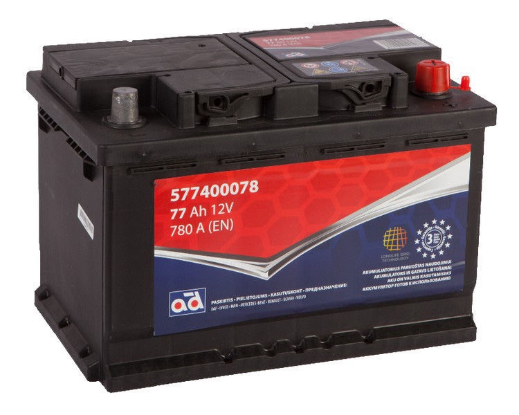 AD Baltic 577400078 Starter Battery 77Ah