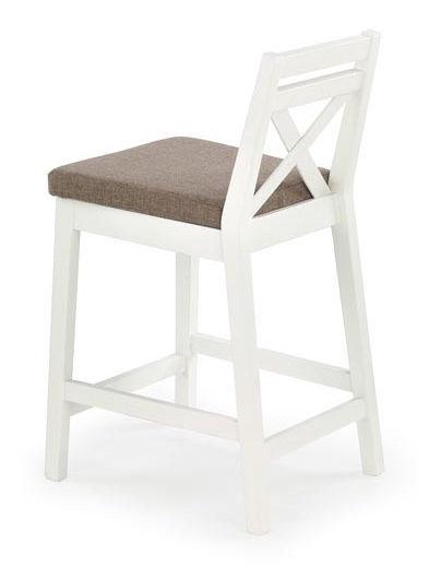 Baro kėdė Halmar Borys Low White, 1 vnt.