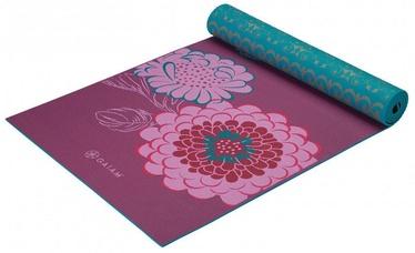 Gaiam Kiku Reversible Yoga Mat 172x61cm Purple/Blue
