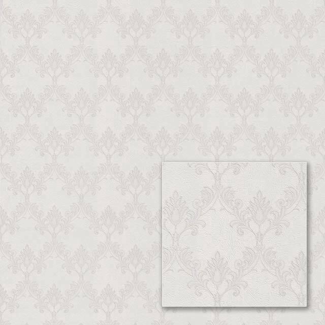 Flizelino pagrindo tapetas Sintra 540626 Valencia, šviesiai pilkas, klasikinis raštas