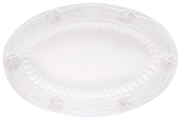 Home4you ROOSI Serving Plate 39x26cm White