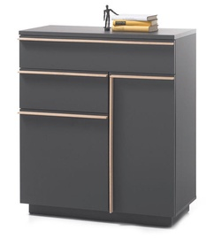 Black Red White Brindisi Chest Of Drawers 2 40x85x98cm Grey