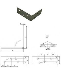 Mööblinurk Vagner SDH  32x32x15x1,5 mm, nikeldatud