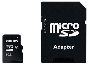 Карта памяти Philips Micro SD Card 8GB + Adapter FM08MP45B