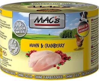 Mac's Chicken & Cranberry 200g