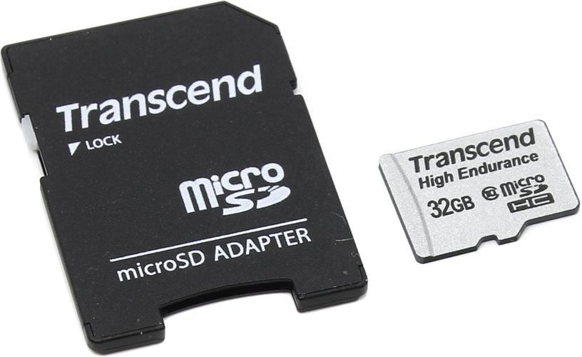 Transcend 32GB Micro SDHC High Endurance w/ Adapter