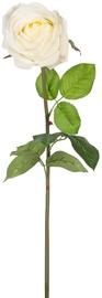 Home4you Artificial Flower Rose H75cm White