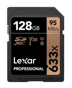Mälukaart Lexar 128GB Professional SDXC Card 633x U3 V30