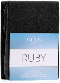 AmeliaHome Ruby Frote Bedsheet 80-90x200 Black 44