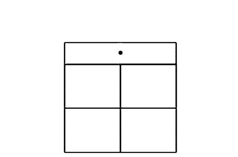 Szynaka Meble Ikar 10 Drawer 84x87.3cm White