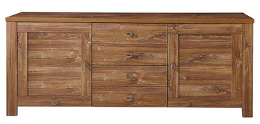 Black Red White Brussel Chest Of Drawers 45x188x79cm Oak