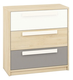 ML Meble Drop 10 Chest Of Drawers Beech/White/Dark Gray