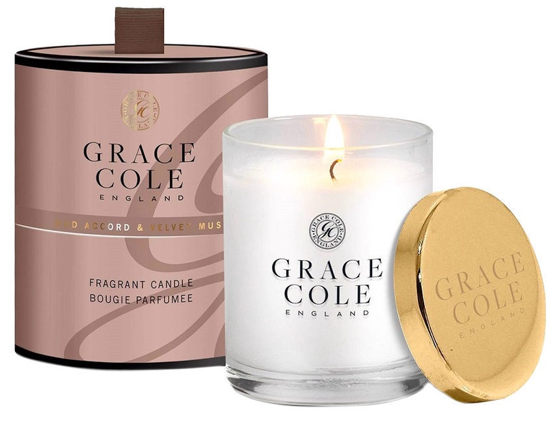 Grace Cole Fragrant Candle 200g Oud Accord & Velvet Musk