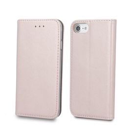 TakeMe Smart Magnetic Fix Book Case For Samsung Galaxy J4 Plus J415 Rose Gold