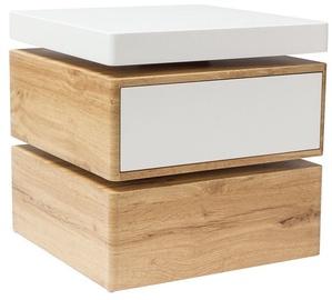 Kohvilaud Signal Meble Rita Oak/White, 500x500x500 mm