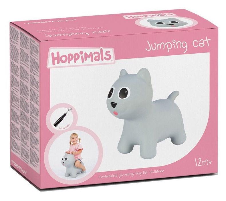 Tootiny Hoppimals Jumping Cat Gray
