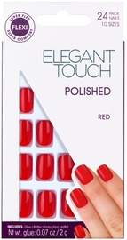 Elegant Touch Polish Polished Red Oval