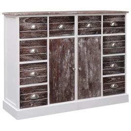 Комод VLX Wood 284174, коричневый/белый, 30x113x79 см